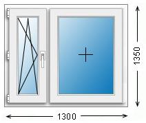 Цена двухстворчатого окна